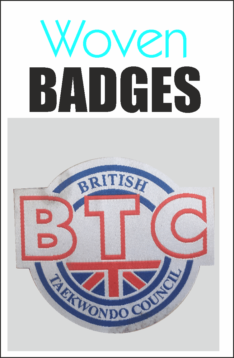 woven badges